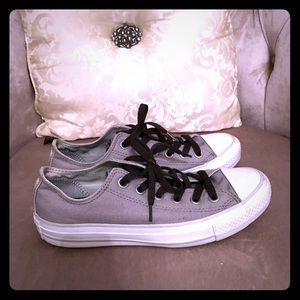 Grey All Star Converse Shoes
